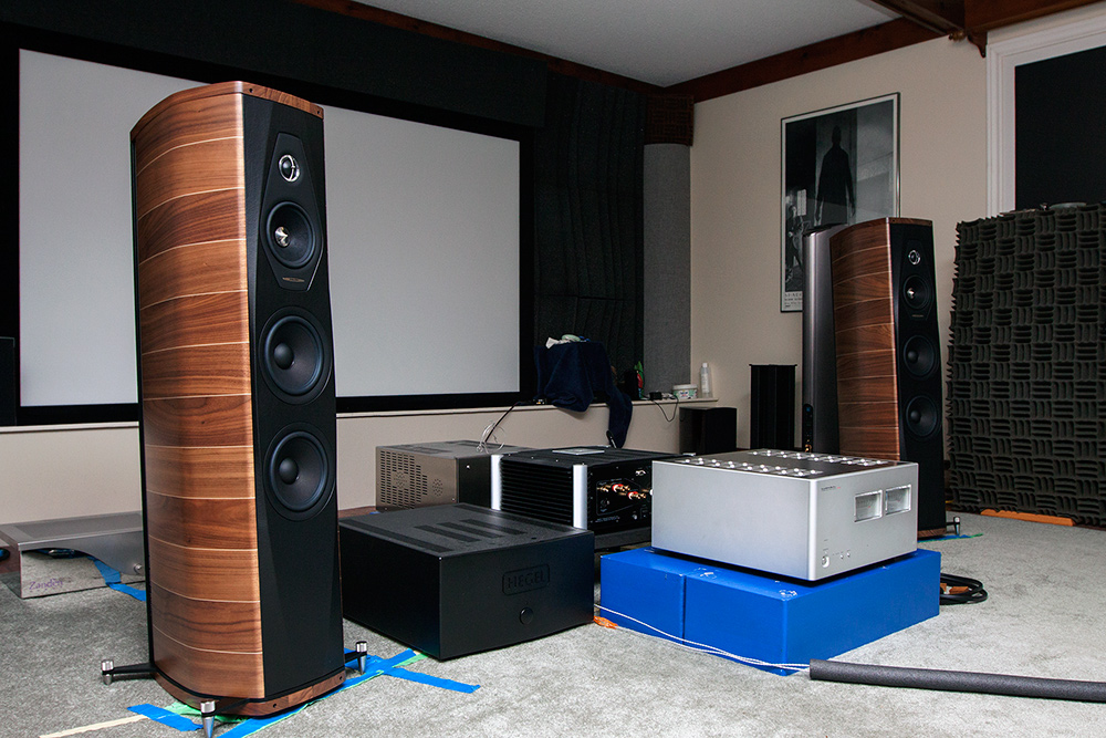 Sonus Faber speakers in room