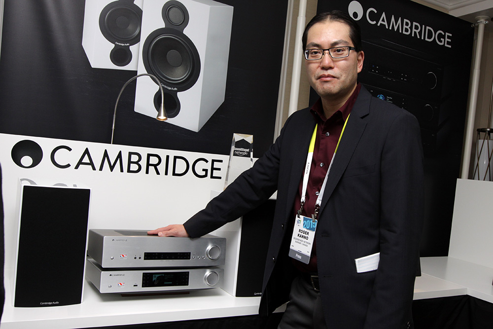 Roger Kanno with Cambridge amp
