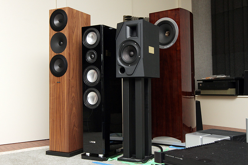 Three speakers to be measured